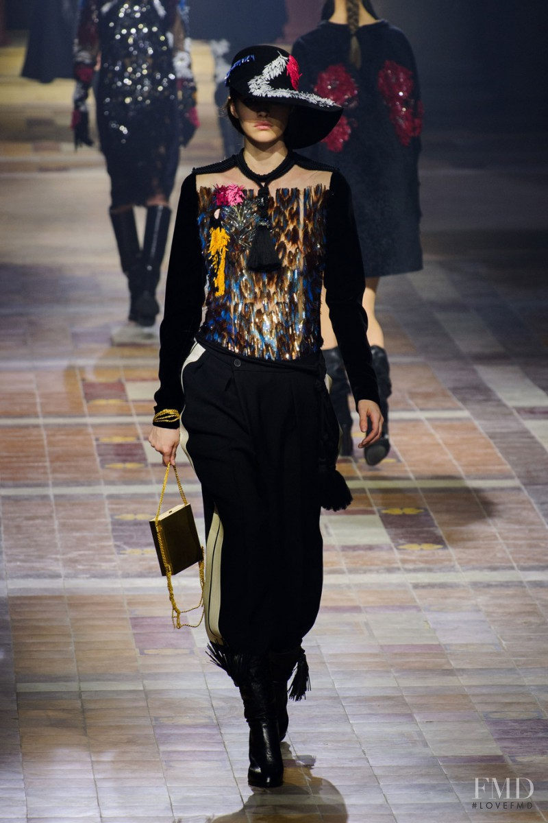 Vanessa Moody featured in  the Lanvin fashion show for Autumn/Winter 2015