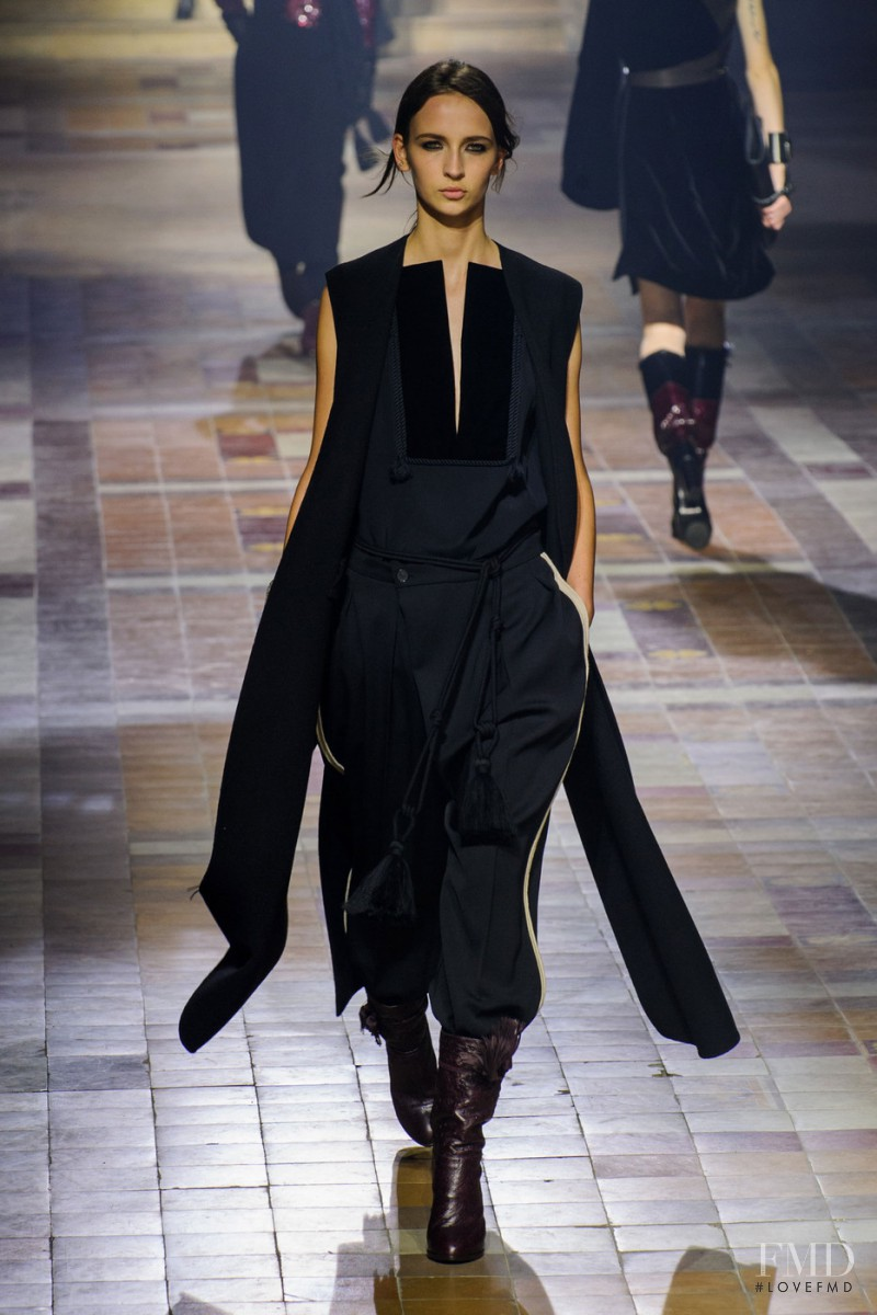 Waleska Gorczevski featured in  the Lanvin fashion show for Autumn/Winter 2015