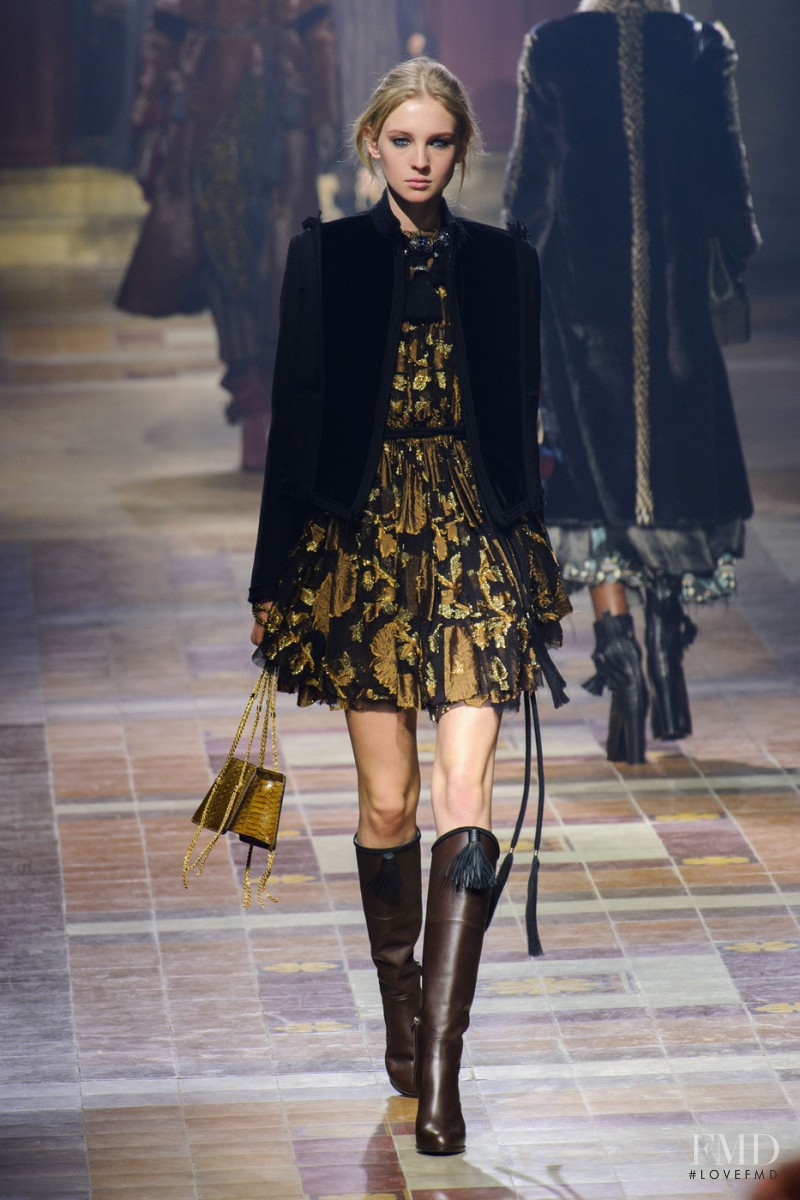 Nastya Sten featured in  the Lanvin fashion show for Autumn/Winter 2015
