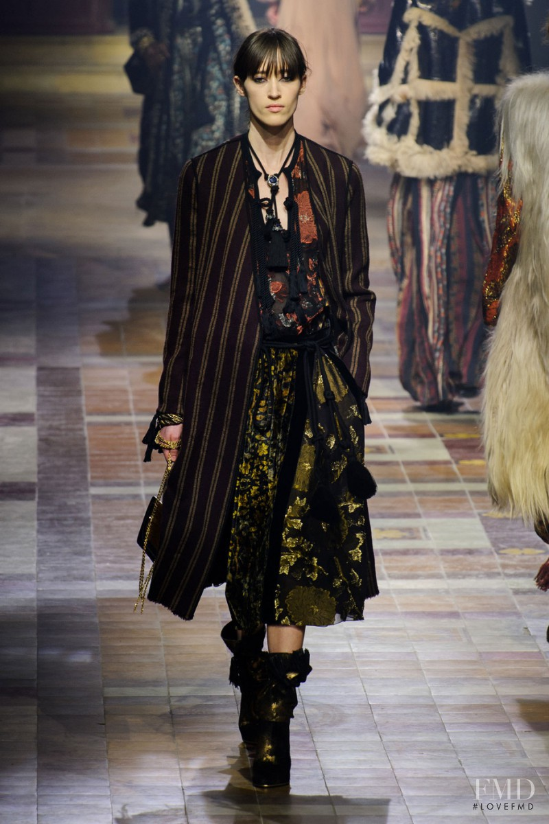 Helena Severin featured in  the Lanvin fashion show for Autumn/Winter 2015