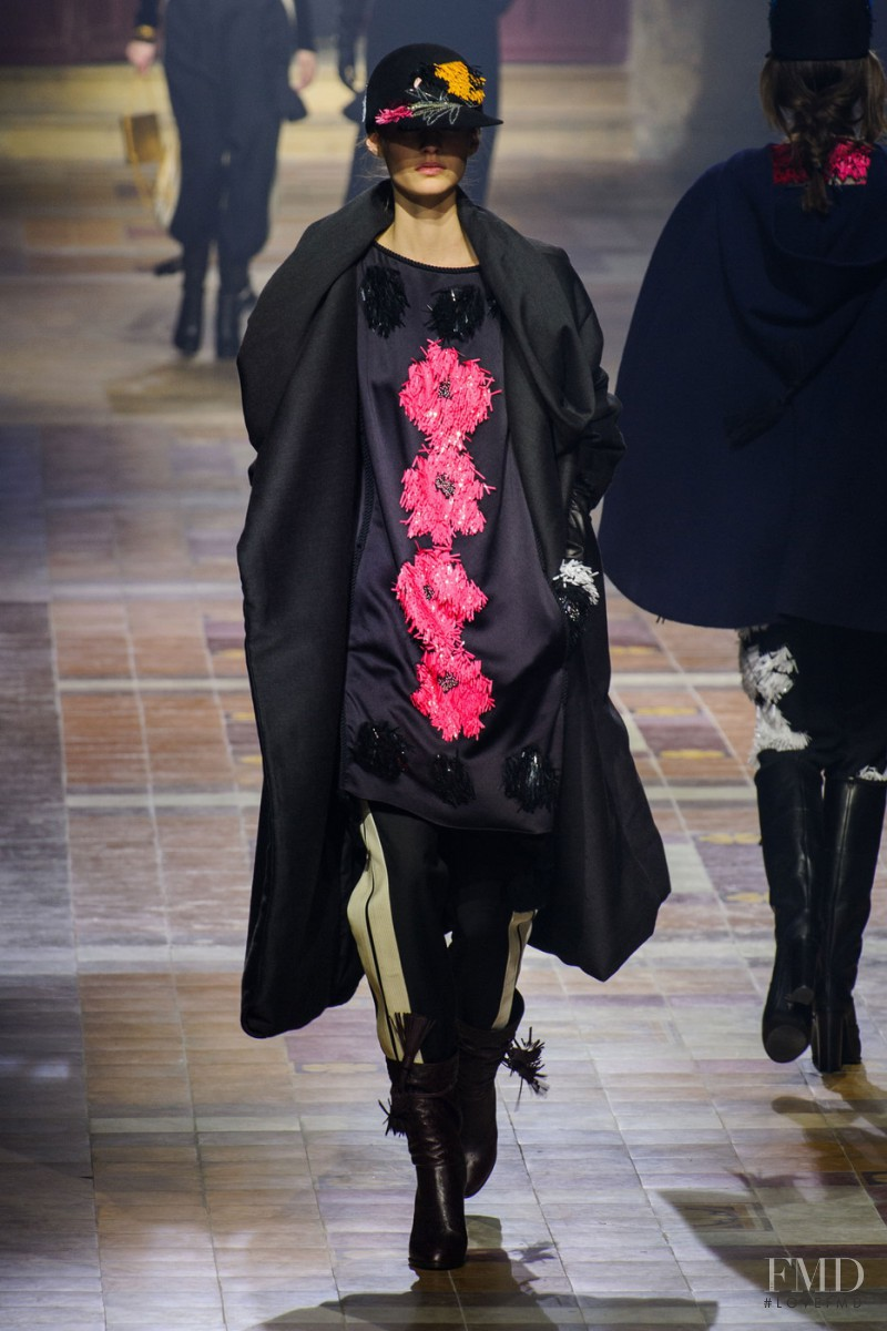 Maartje Verhoef featured in  the Lanvin fashion show for Autumn/Winter 2015