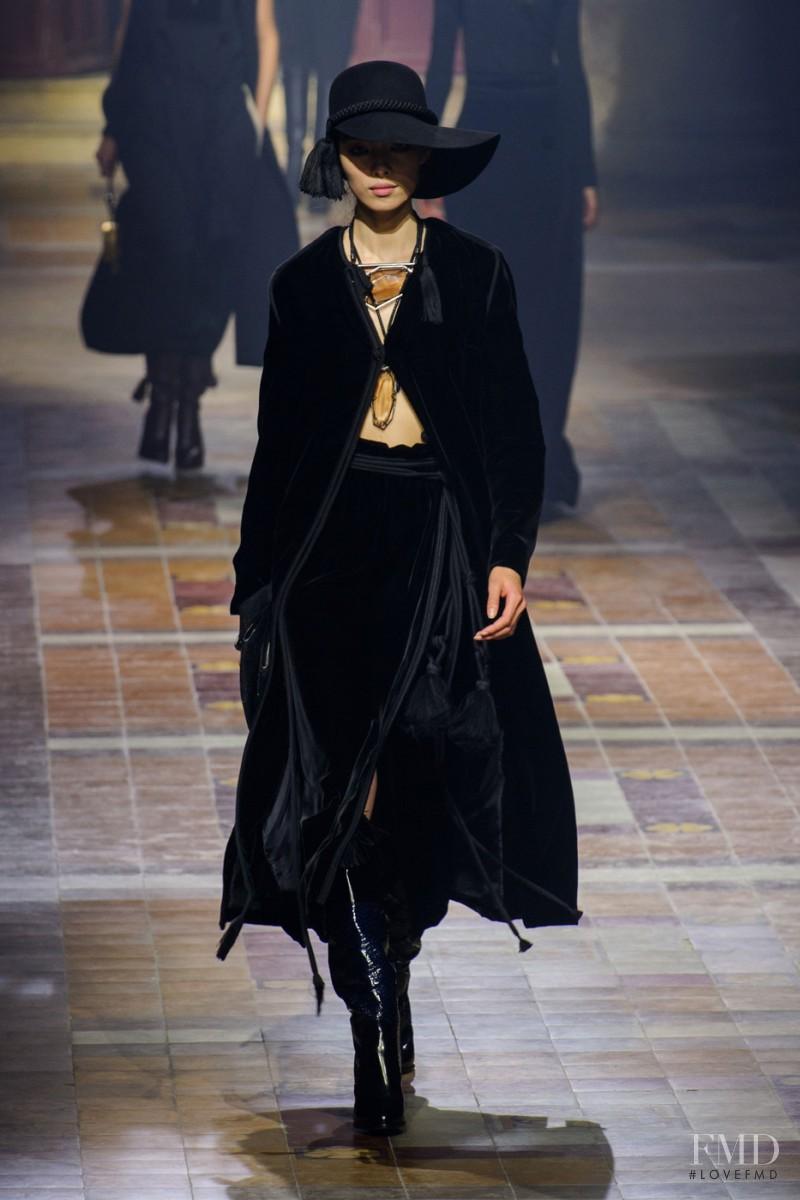 Fei Fei Sun featured in  the Lanvin fashion show for Autumn/Winter 2015