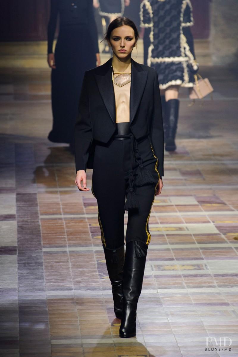 Sasha Antonowskaia featured in  the Lanvin fashion show for Autumn/Winter 2015
