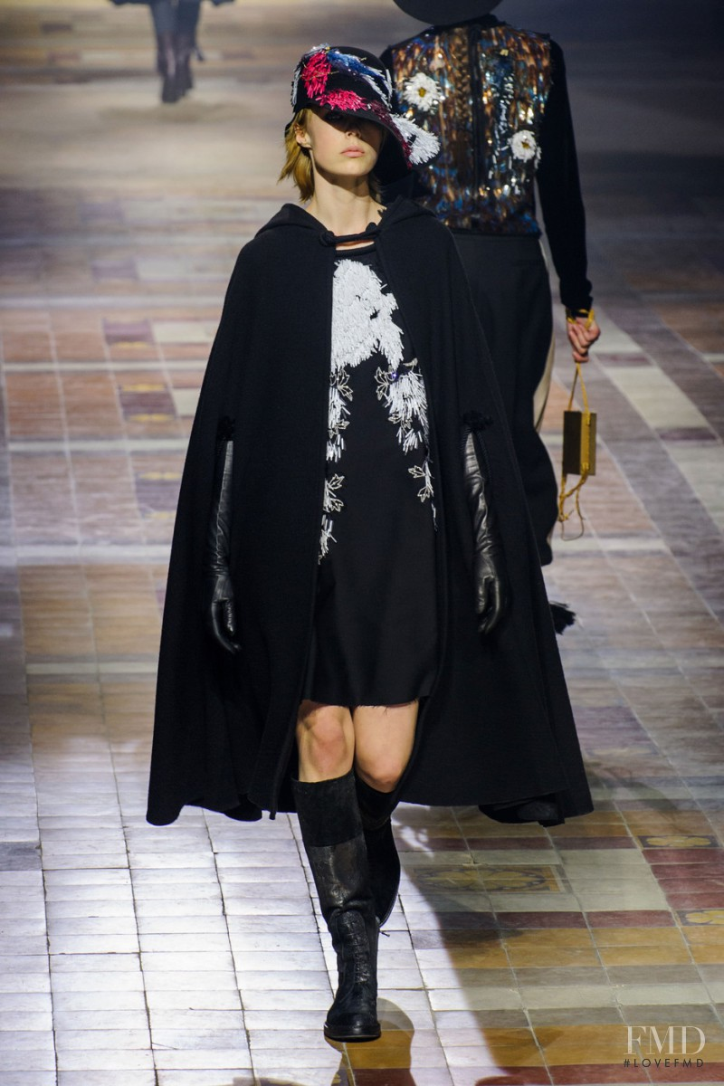 Edie Campbell featured in  the Lanvin fashion show for Autumn/Winter 2015