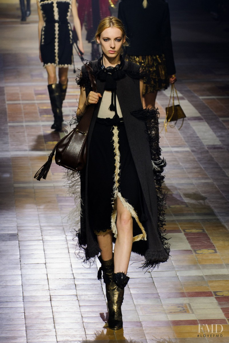 Zlata Semenko featured in  the Lanvin fashion show for Autumn/Winter 2015