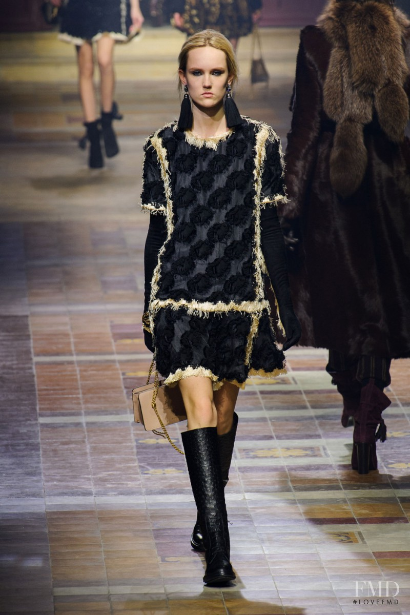 Harleth Kuusik featured in  the Lanvin fashion show for Autumn/Winter 2015