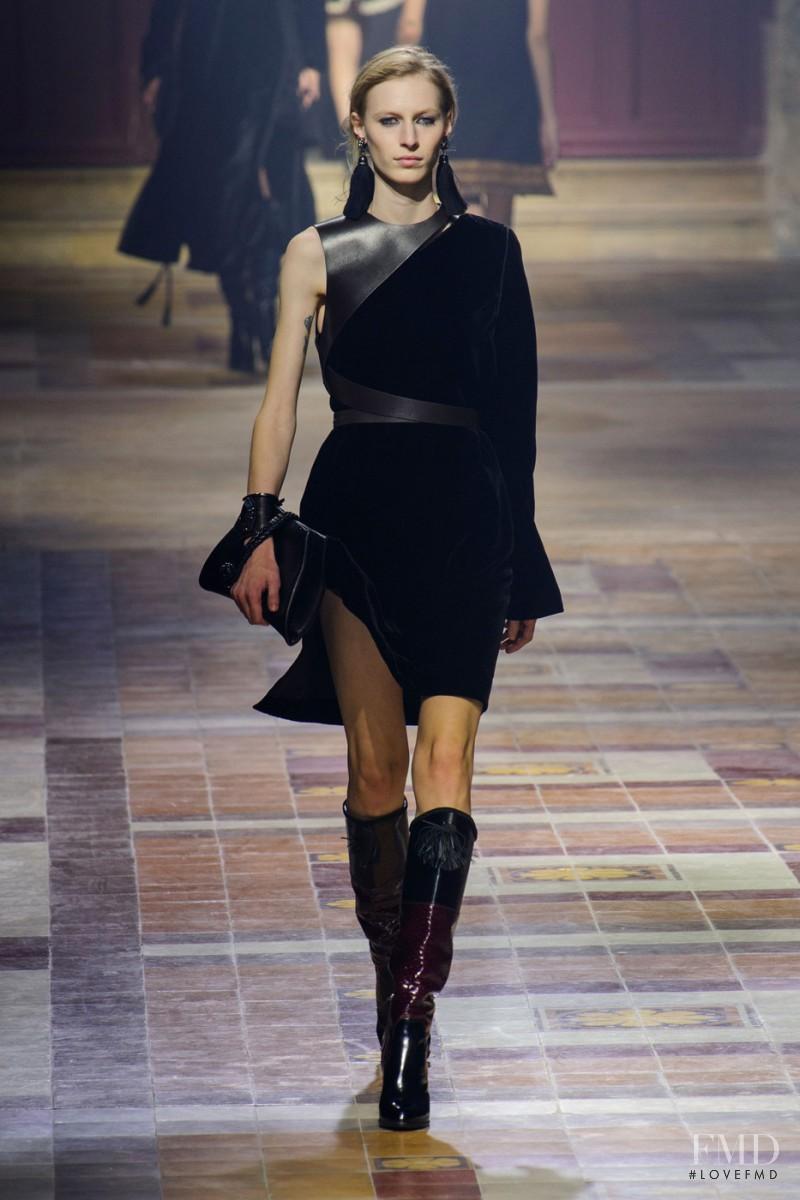 Julia Nobis featured in  the Lanvin fashion show for Autumn/Winter 2015