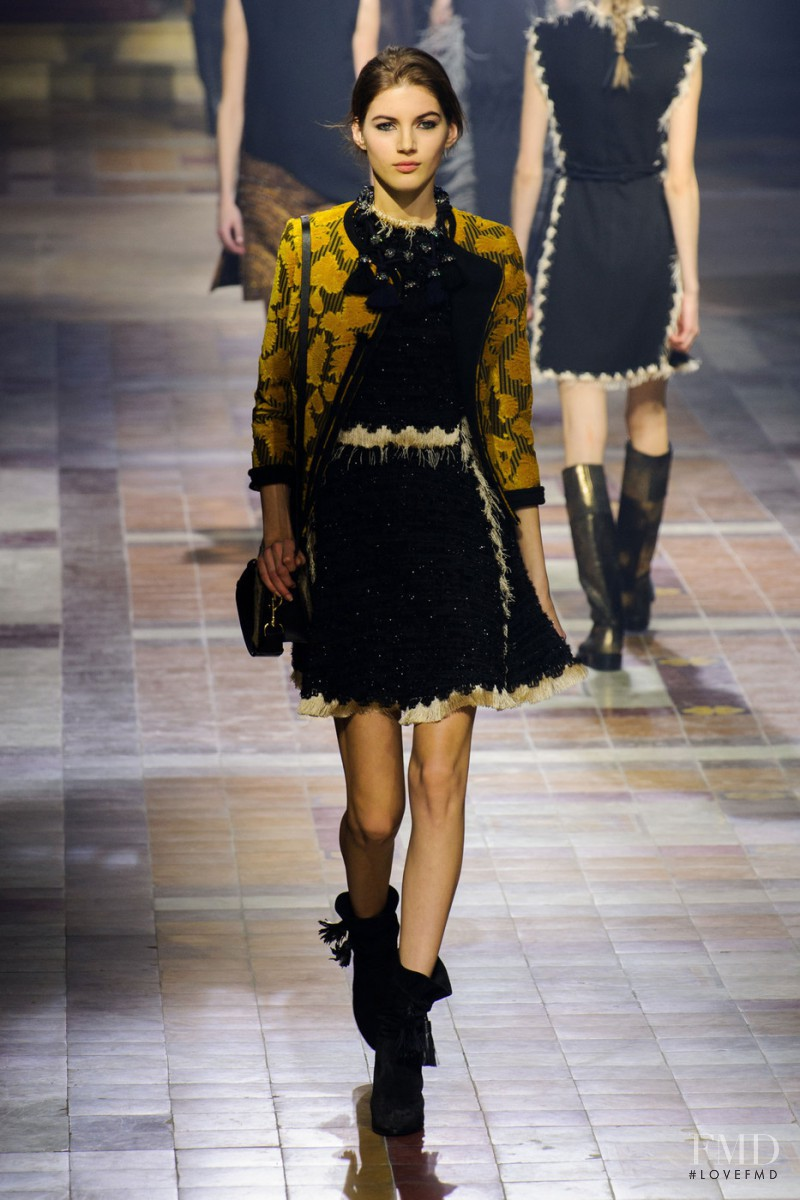 Valery Kaufman featured in  the Lanvin fashion show for Autumn/Winter 2015