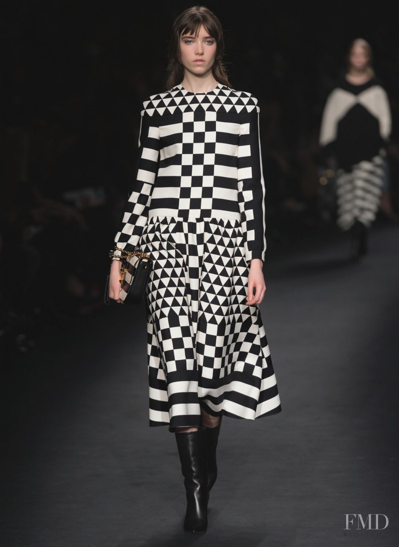 Grace Hartzel featured in  the Valentino fashion show for Autumn/Winter 2015