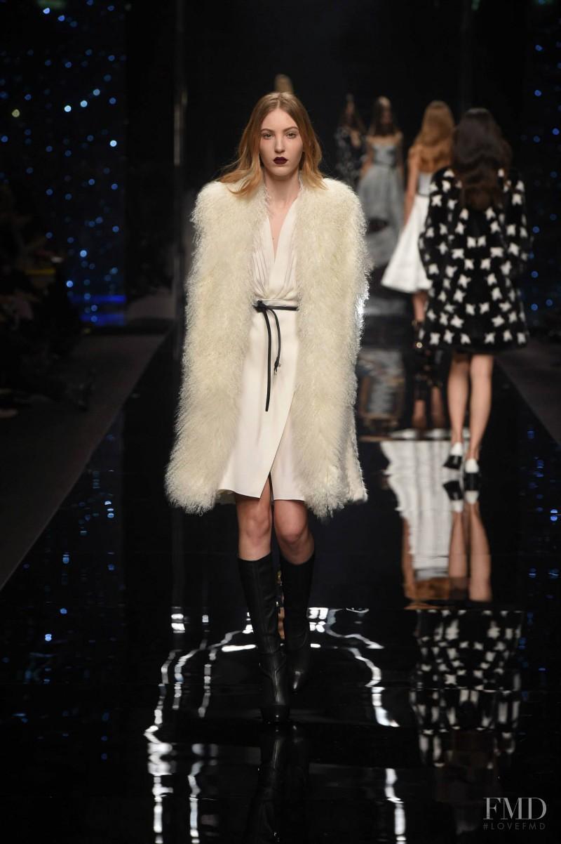 Ella Richards featured in  the Ermanno Scervino fashion show for Autumn/Winter 2015