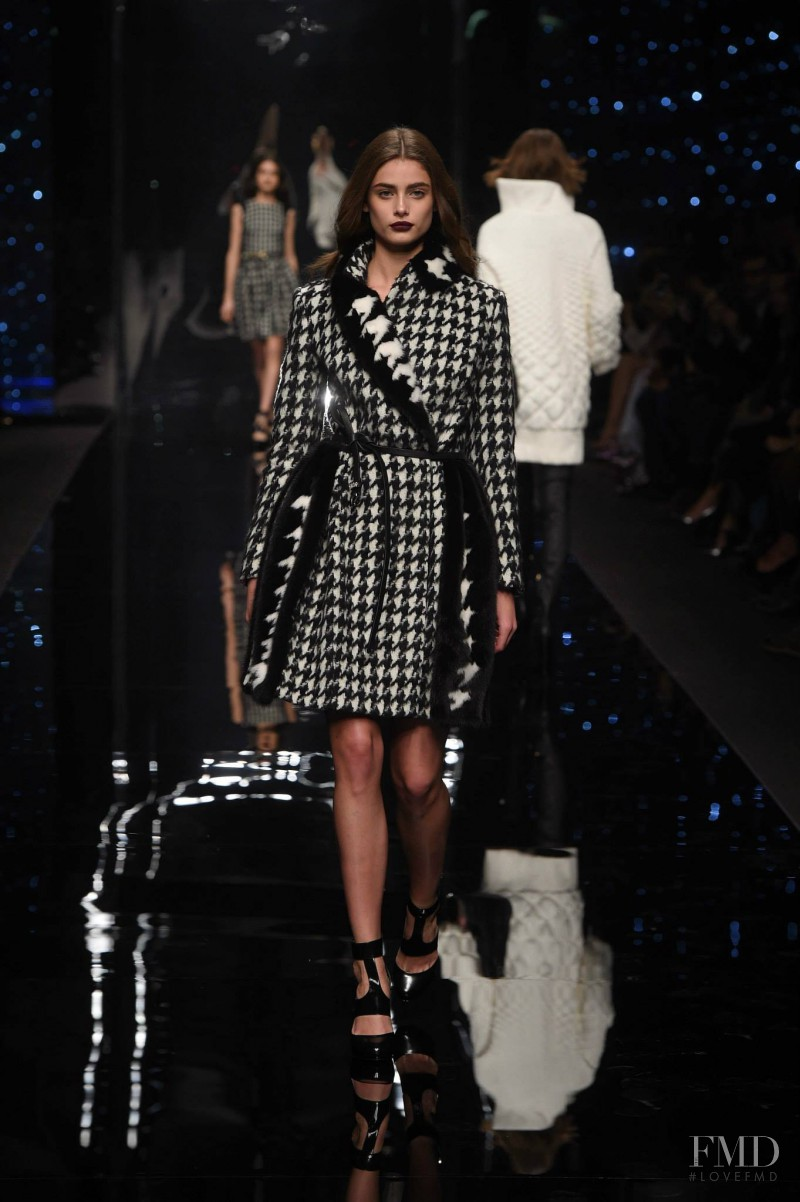 Taylor Hill featured in  the Ermanno Scervino fashion show for Autumn/Winter 2015