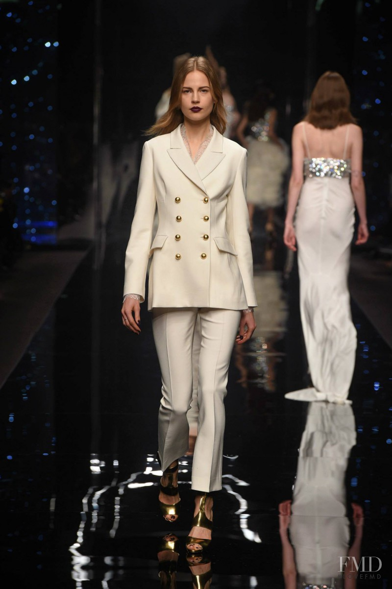 Elisabeth Erm featured in  the Ermanno Scervino fashion show for Autumn/Winter 2015