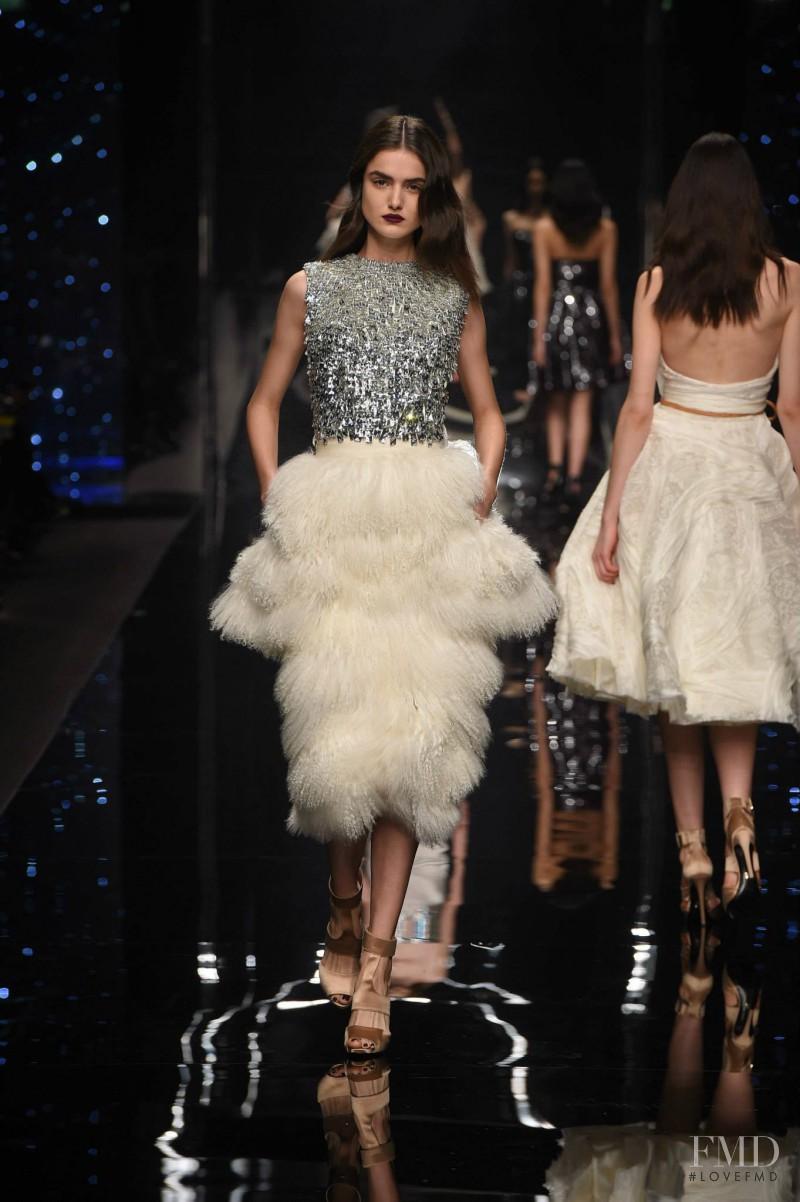 Blanca Padilla featured in  the Ermanno Scervino fashion show for Autumn/Winter 2015