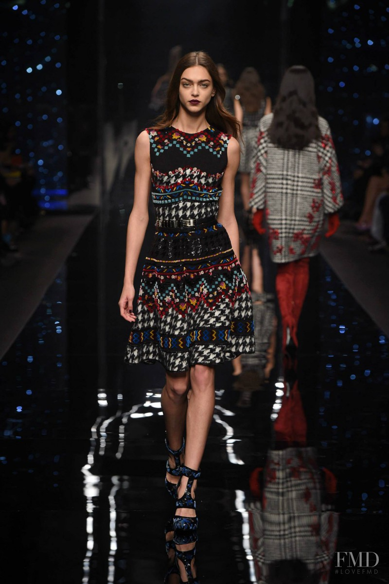 Zhenya Katava featured in  the Ermanno Scervino fashion show for Autumn/Winter 2015