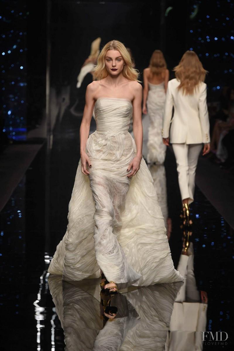 Jessica Stam featured in  the Ermanno Scervino fashion show for Autumn/Winter 2015