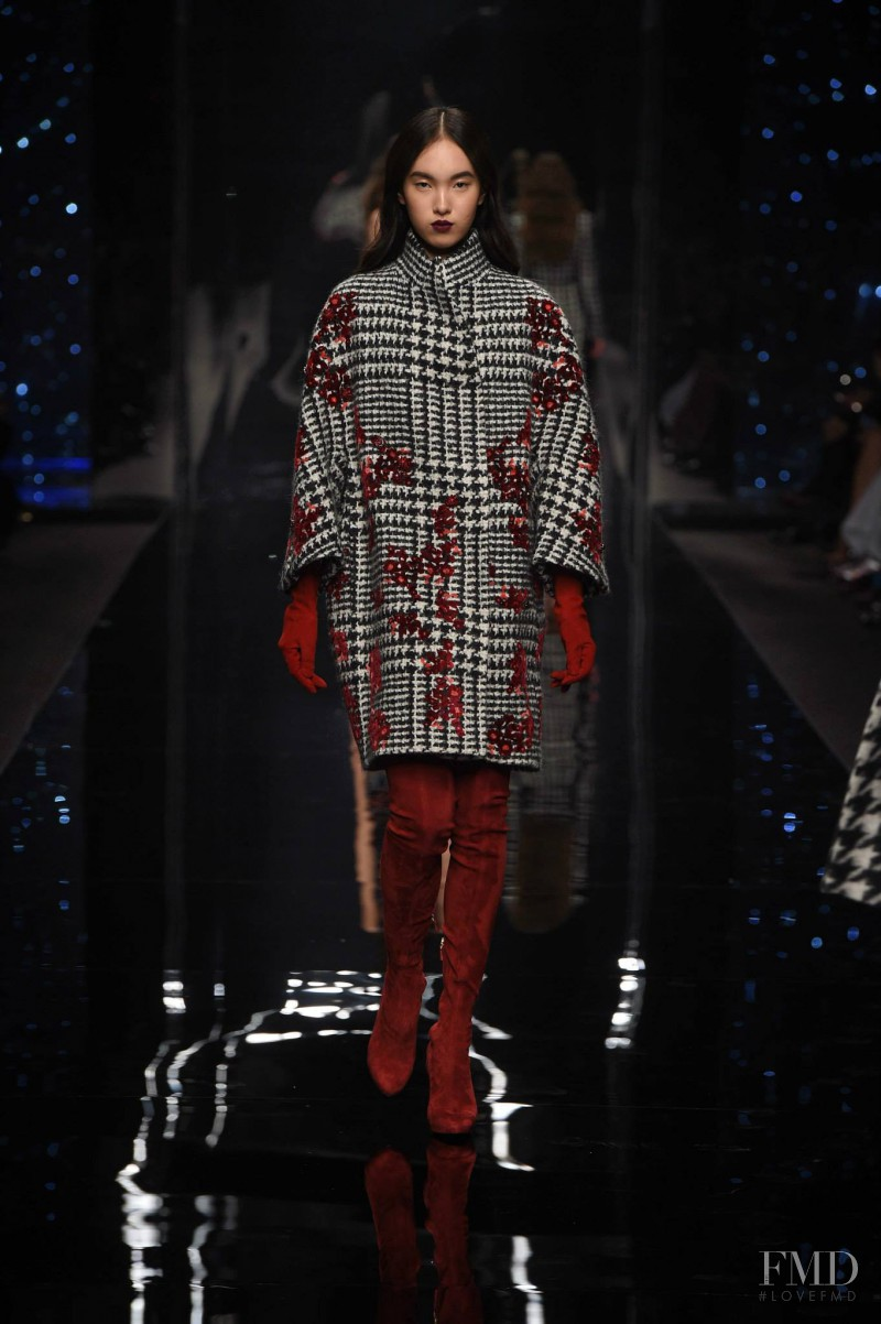 Yuan Bo Chao featured in  the Ermanno Scervino fashion show for Autumn/Winter 2015