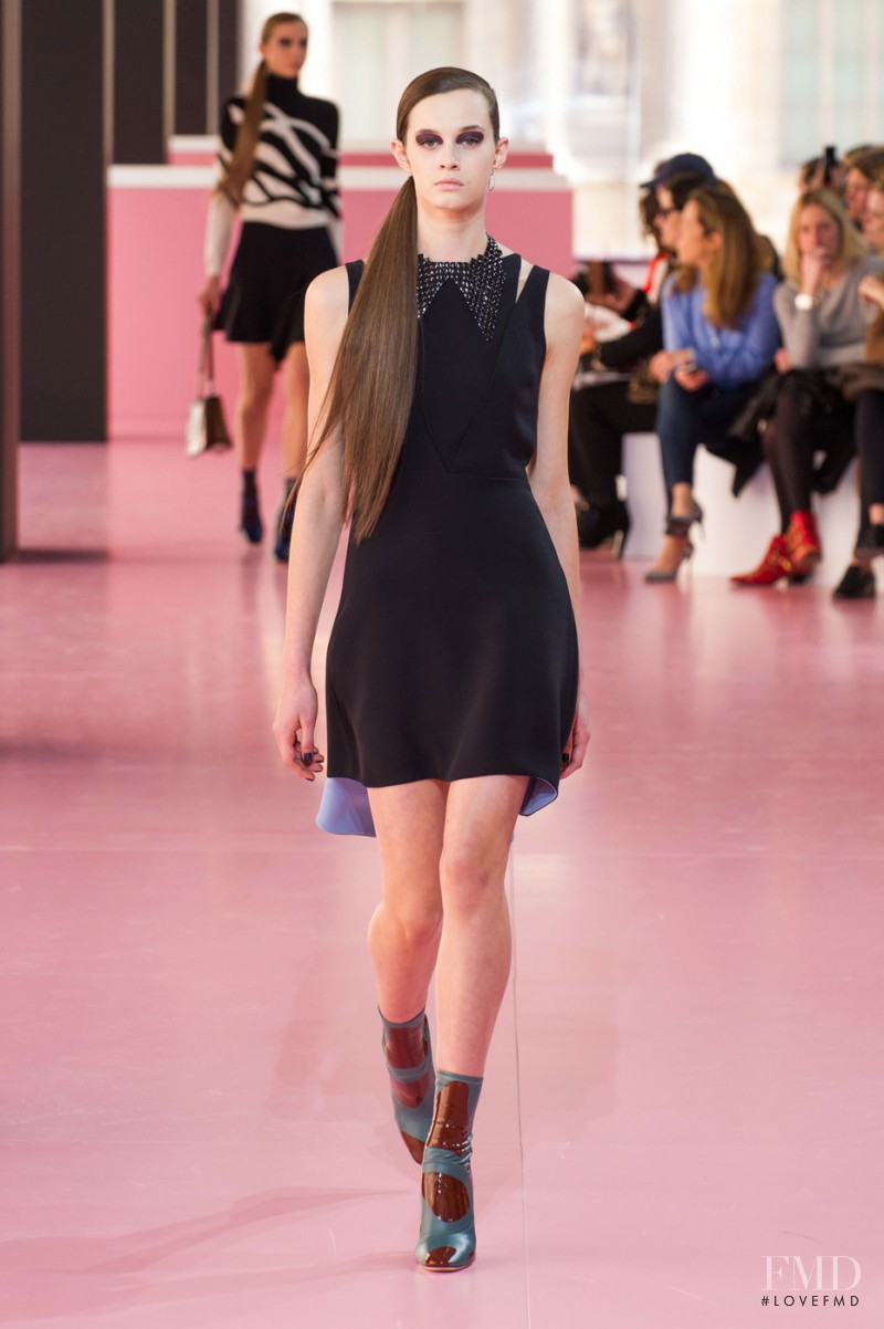 Marylou Moll featured in  the Christian Dior fashion show for Autumn/Winter 2015