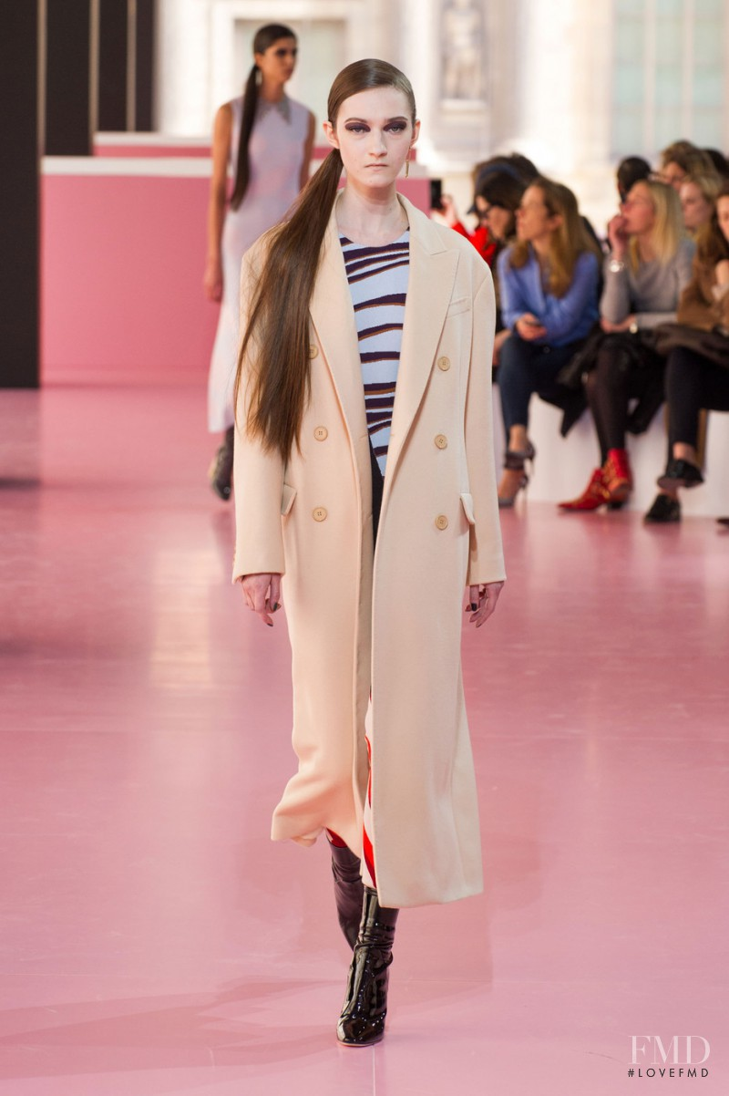 Kasia Jujeczka featured in  the Christian Dior fashion show for Autumn/Winter 2015