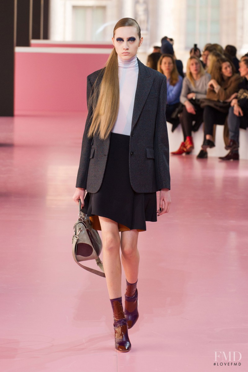 Lia Pavlova featured in  the Christian Dior fashion show for Autumn/Winter 2015