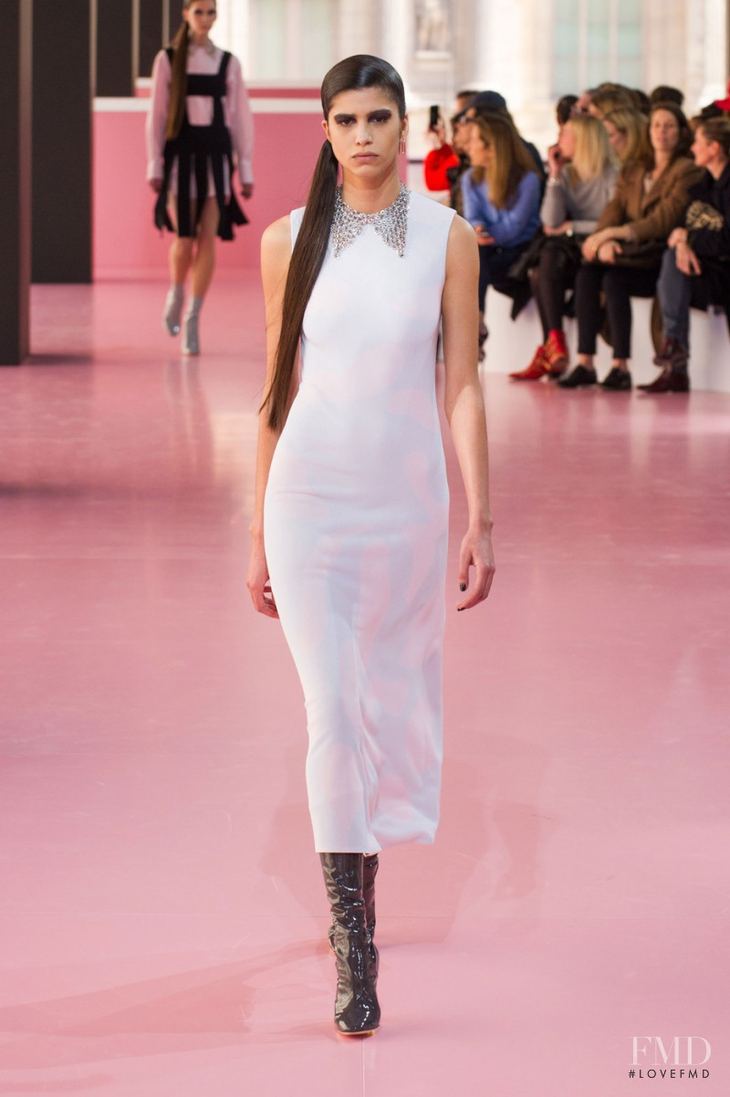 Mica Arganaraz featured in  the Christian Dior fashion show for Autumn/Winter 2015