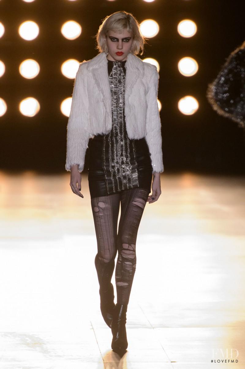 Julia Cumming featured in  the Saint Laurent fashion show for Autumn/Winter 2015