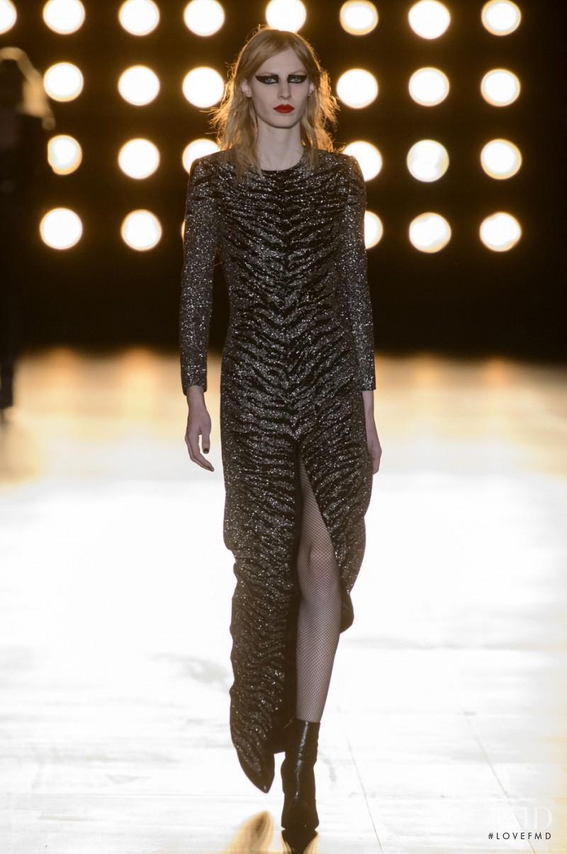 Julia Nobis featured in  the Saint Laurent fashion show for Autumn/Winter 2015
