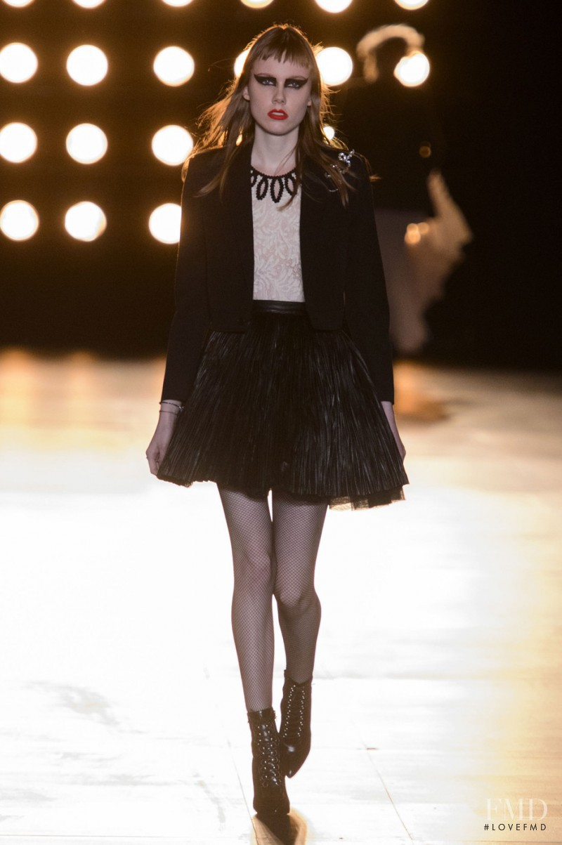 Kiki Willems featured in  the Saint Laurent fashion show for Autumn/Winter 2015