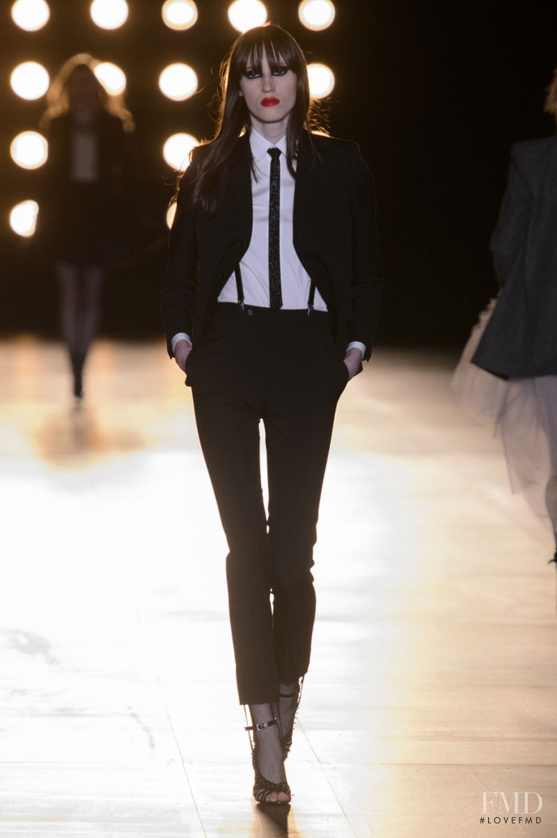 Helena Severin featured in  the Saint Laurent fashion show for Autumn/Winter 2015
