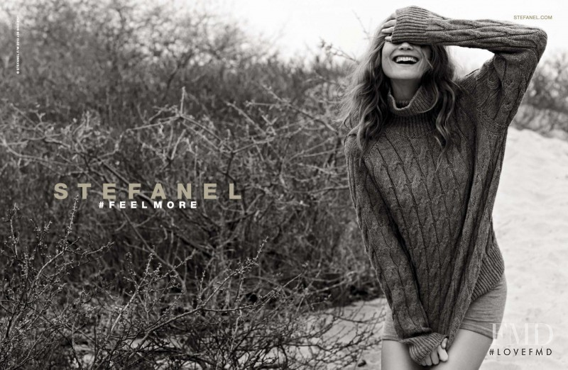 Behati Prinsloo featured in  the Stefanel advertisement for Autumn/Winter 2013