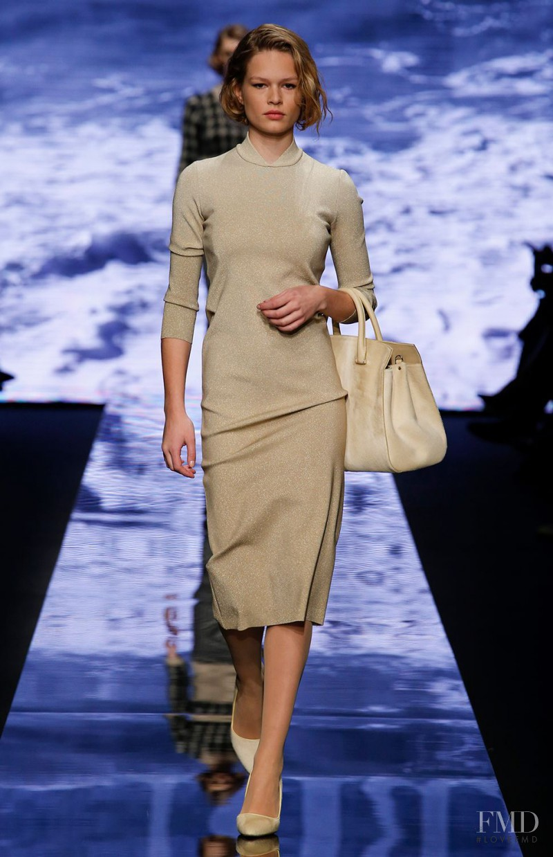 Anna Ewers featured in  the Max Mara fashion show for Autumn/Winter 2015