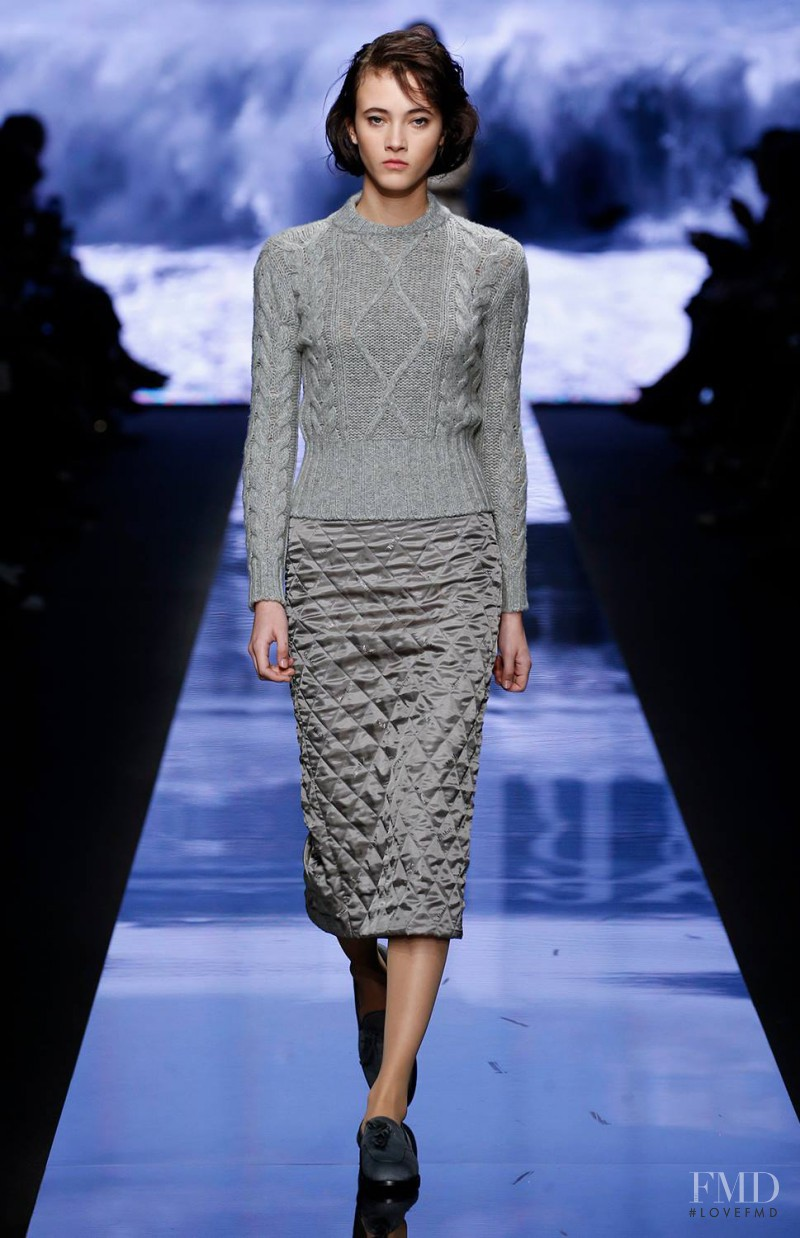 Greta Varlese featured in  the Max Mara fashion show for Autumn/Winter 2015