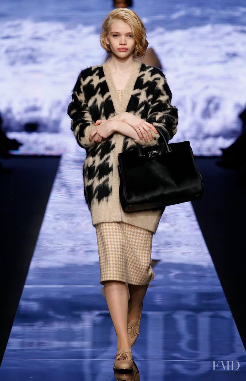 Stella Lucia featured in  the Max Mara fashion show for Autumn/Winter 2015