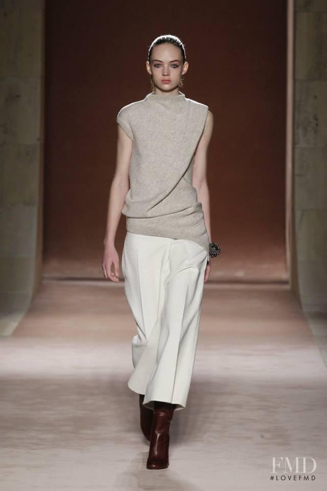 Adrienne Juliger featured in  the Victoria Beckham fashion show for Autumn/Winter 2015
