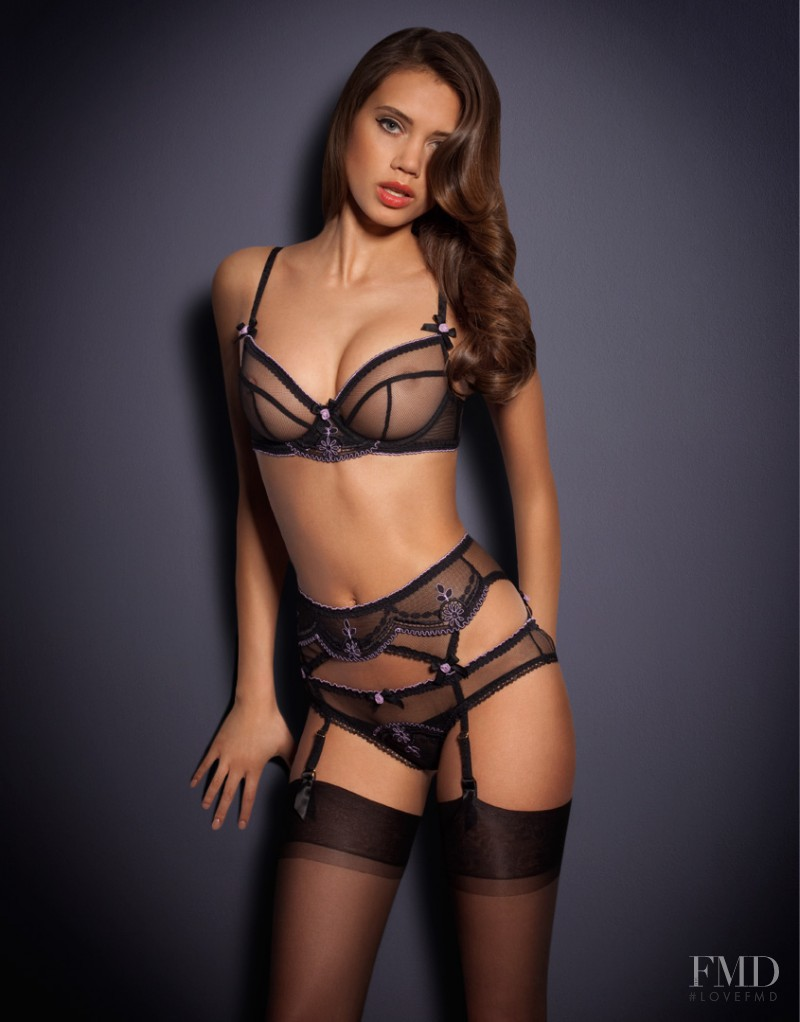 Jacqueline Oloniceva featured in  the Agent Provocateur catalogue for Spring/Summer 2013