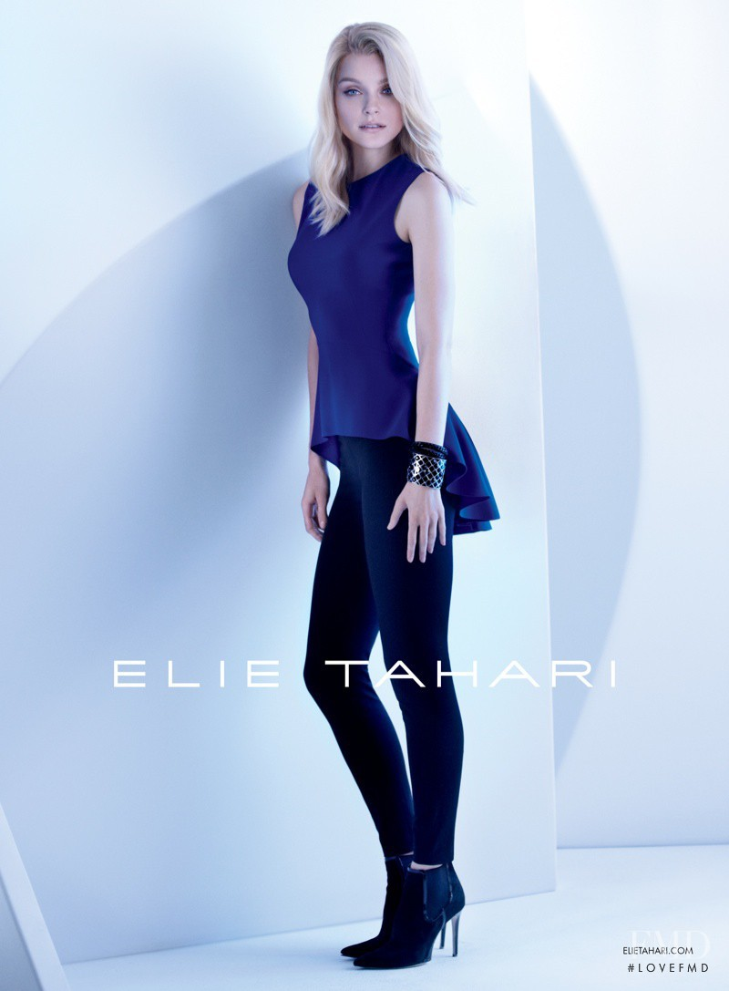Jessica Stam featured in  the Elie Tahari advertisement for Autumn/Winter 2013