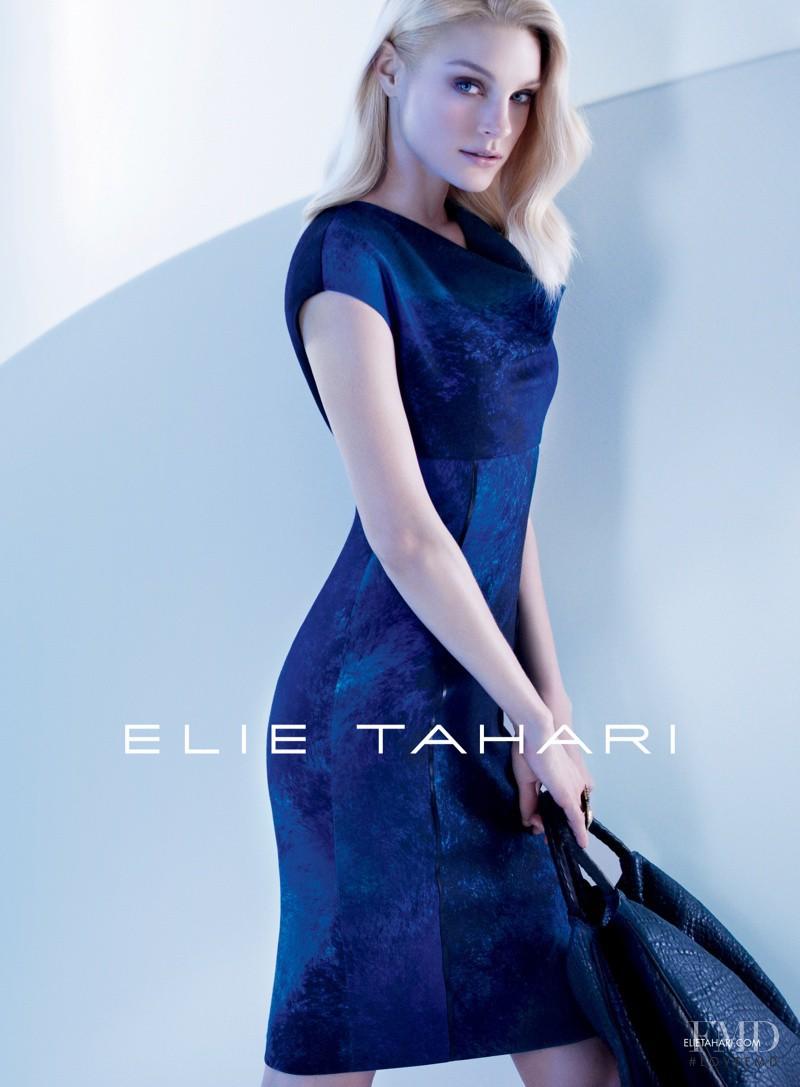 Jessica Stam featured in  the Elie Tahari advertisement for Autumn/Winter 2013