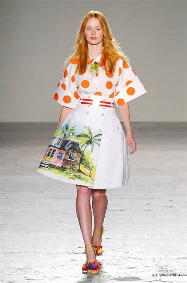 Nastya Seregyna featured in  the Stella Jean fashion show for Spring/Summer 2015