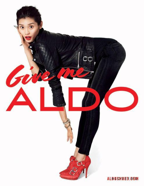 Ming Xi featured in  the Aldo advertisement for Autumn/Winter 2013