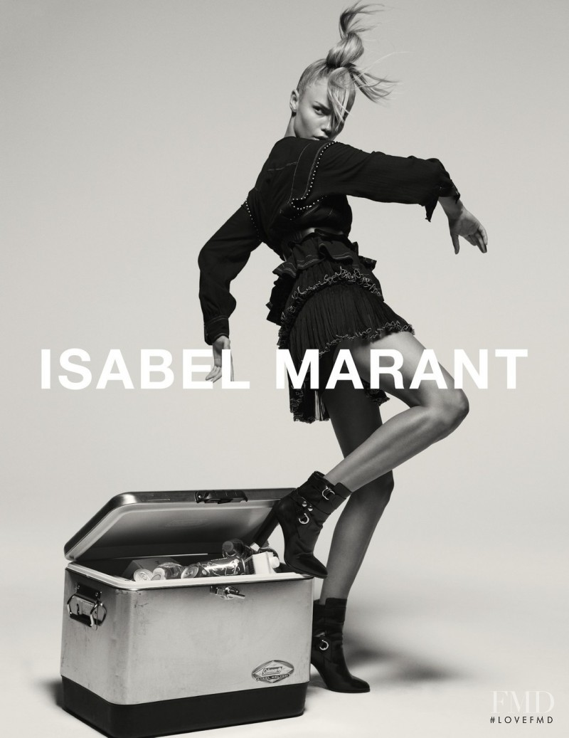 Natasha Poly featured in  the Isabel Marant advertisement for Autumn/Winter 2015