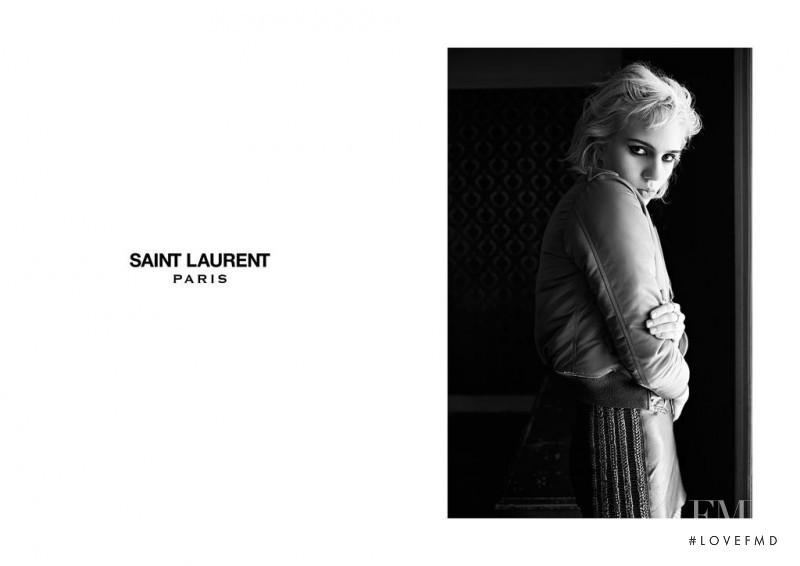 Julia Cumming featured in  the Saint Laurent advertisement for Autumn/Winter 2015