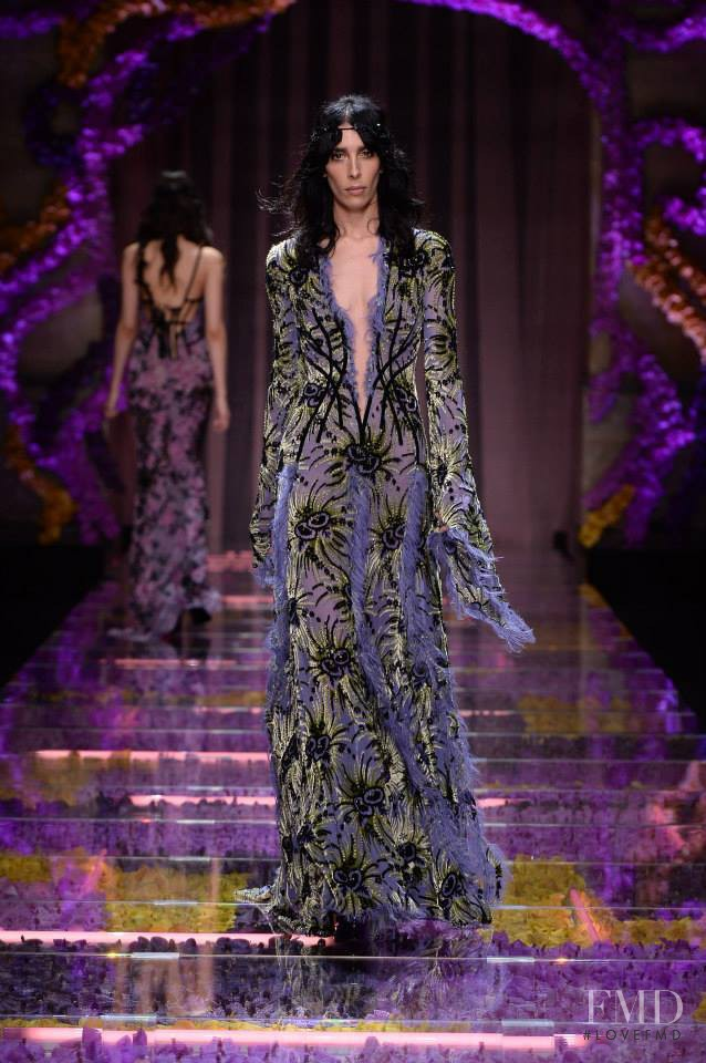 Jamie Bochert featured in  the Atelier Versace fashion show for Autumn/Winter 2015