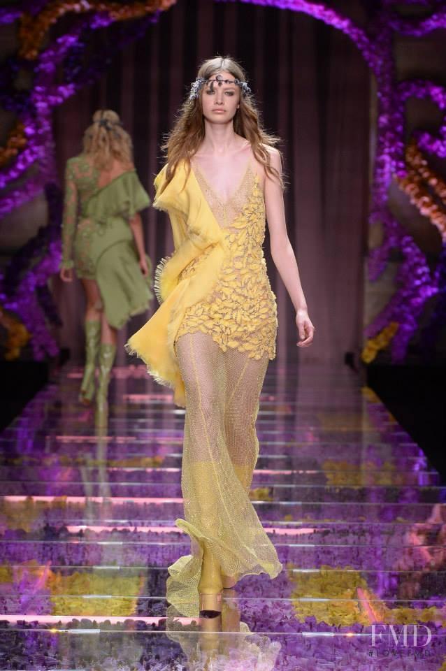 Anna Lund Sorensen featured in  the Atelier Versace fashion show for Autumn/Winter 2015
