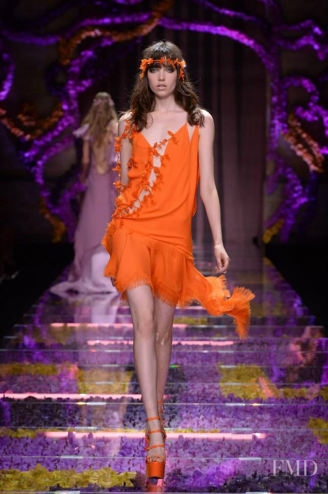 Grace Hartzel featured in  the Atelier Versace fashion show for Autumn/Winter 2015