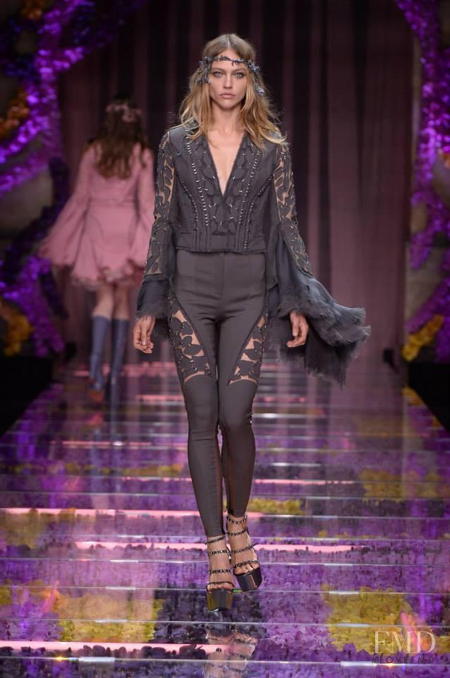 Sasha Pivovarova featured in  the Atelier Versace fashion show for Autumn/Winter 2015