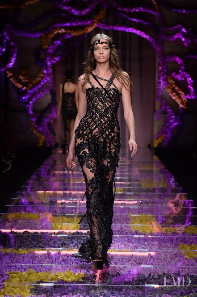 Mina Cvetkovic featured in  the Atelier Versace fashion show for Autumn/Winter 2015