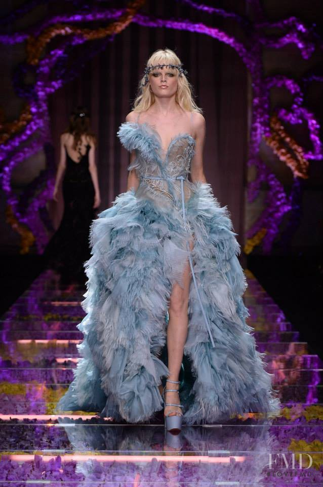Hanne Gaby Odiele featured in  the Atelier Versace fashion show for Autumn/Winter 2015