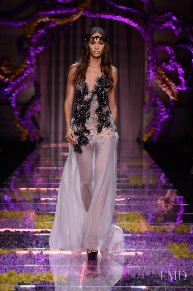 Joan Smalls featured in  the Atelier Versace fashion show for Autumn/Winter 2015