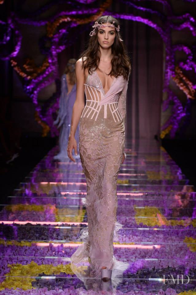 Camille Hurel featured in  the Atelier Versace fashion show for Autumn/Winter 2015