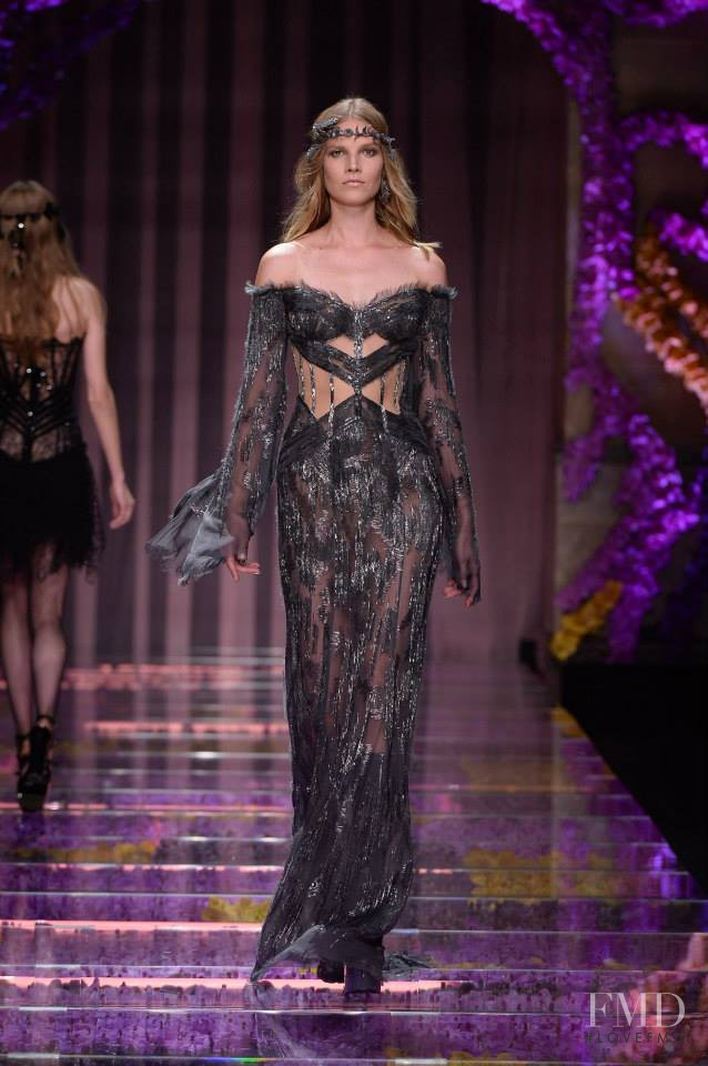 Suvi Koponen featured in  the Atelier Versace fashion show for Autumn/Winter 2015