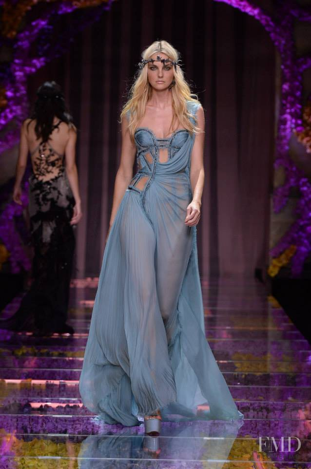 Caroline Trentini featured in  the Atelier Versace fashion show for Autumn/Winter 2015